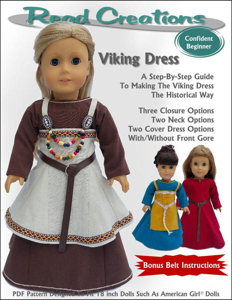 Readcreations Viking Dress Doll Clothes Pattern 18 Inch