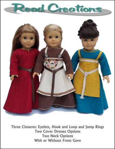 "Viking Dress 18"" Doll Clothes Pattern"