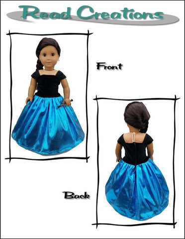 "Reversible Fancy Dress 18"" Doll Clothes Pattern"