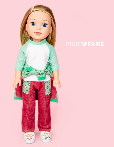 "Skinny Utility Pants 14.5"" Doll Clothes Pattern"