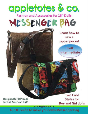 "Messenger Bag 18"" Doll Accessory Pattern"