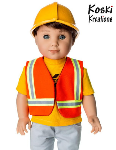 "Koski Kreations 18 Inch Modern Construction Gear 18"" Doll Clothes Pattern Pixie Faire"