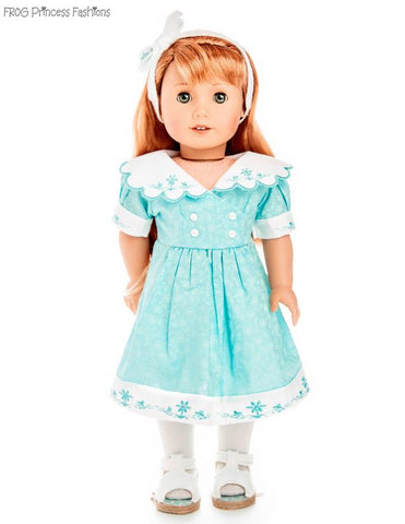 "Charm School Dress 18"" Doll Clothes Pattern"