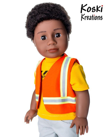 "Construction Gear 18"" Doll Clothes Pattern"