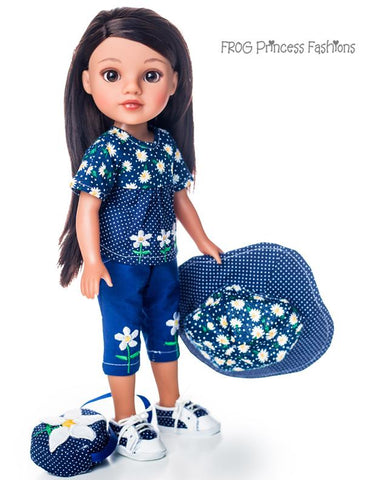 "Daisy Days set for 13"" - 14.5"" Dolls Machine Embroidery Design"