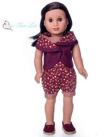 "The Lola Dress and Romper 18"" Doll Clothes Pattern"