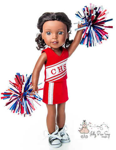 "Junior Cheerleader 14.5"" Doll Clothes Pattern"