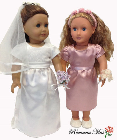 "Sydney Spring Wedding Dress 18"" Doll Clothes"