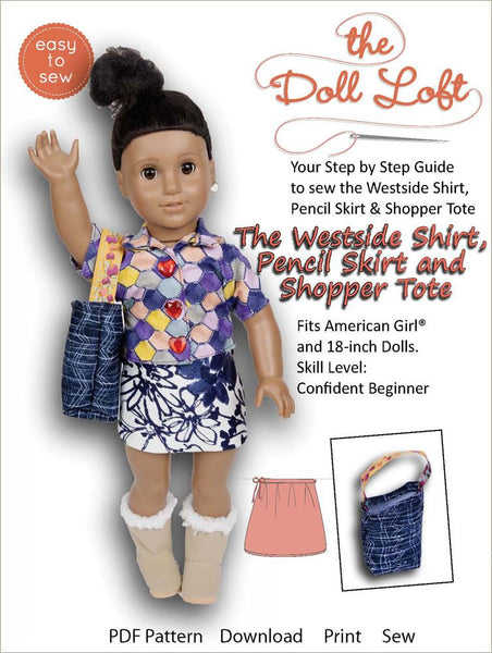 The Doll Loft Westside Shirts And Skirt And Shoppng Tote