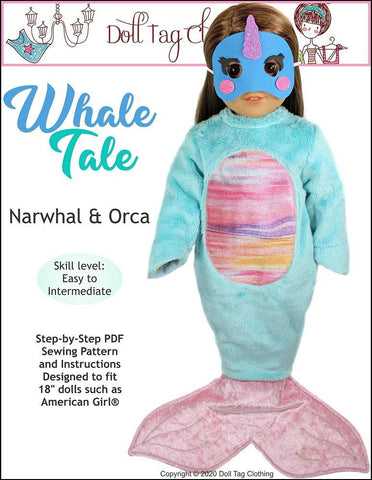 "Whale Tale 18"" Doll Clothes"