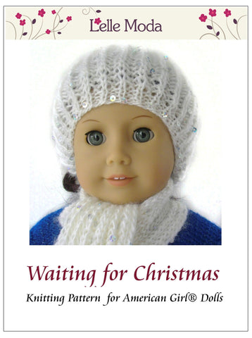 Free 18 Inch Doll Hat and Scarf Knitting Pattern