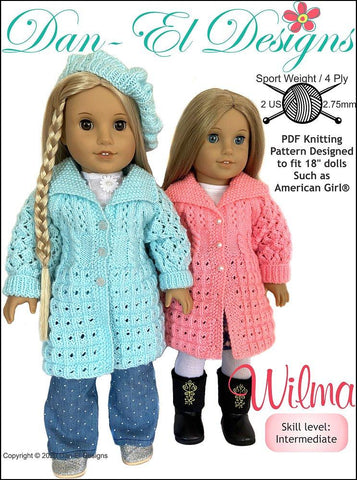 "Wilma 18"" Doll Knitting Pattern"