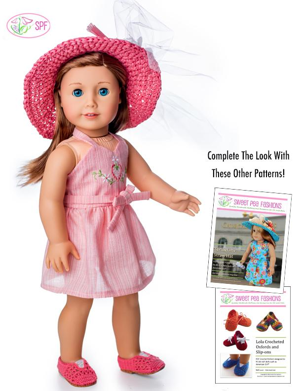 Adorable pink scooter doll dress for the 18doll