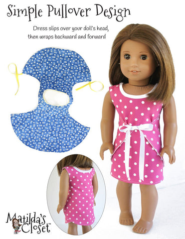 "Wraptastic! Reversible Dress 18"" Doll Clothes"