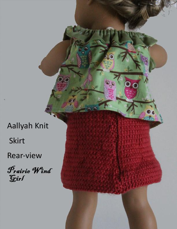 Prairie Wind Girl Aallyah Knit Skirt Doll Clothes Pattern 18 inch ...