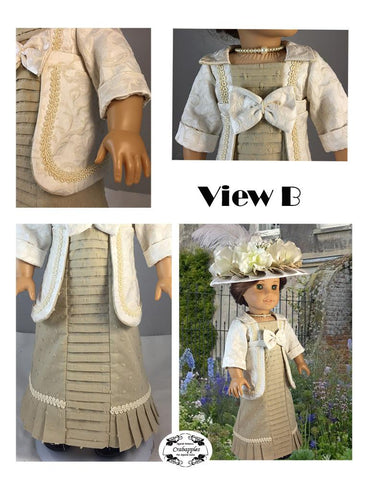 "Afternoon Stroll 18"" Doll Clothes Pattern"