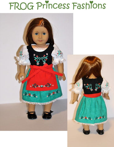 "Edelweiss 18"" Doll Machine Embroidery Design"