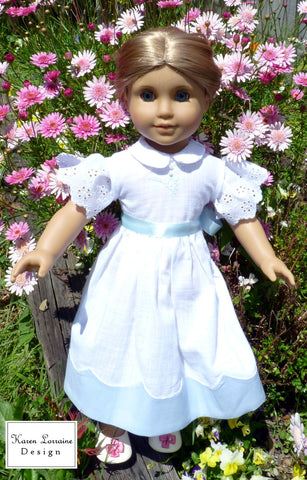"Heirloom  Luncheon 18"" Doll Clothes Pattern"