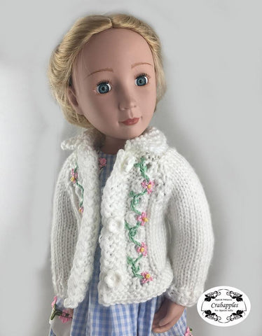 Eyelet Cable Cardigan Knitting Pattern for AGAT Dolls