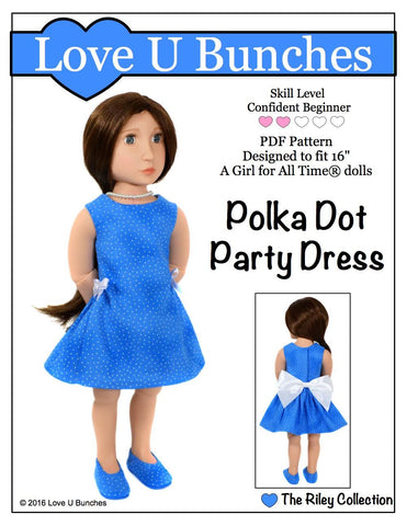 Love U Bunches A Girl For All Time Polka Dot Party Dress for AGAT Dolls Pixie Faire