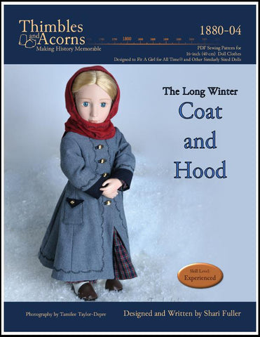 The Long Winter Coat and Hood Pattern for AGAT Dolls