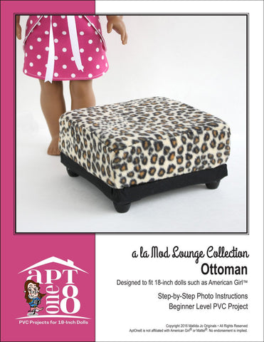 "a la Mod Lounge Collection: Ottoman PVC Pattern for 18"" Dolls"