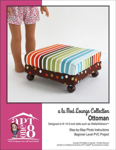 "a la Mod Lounge Collection: Ottoman PVC Pattern for 14.5""  Dolls"