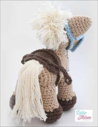 PDF Amigurumi Crochet Pattern  Alfalfa the horse Little Abbee