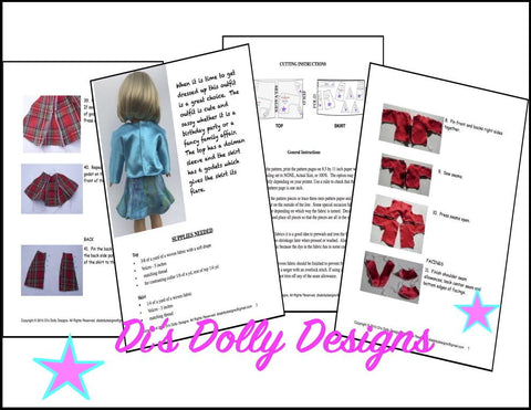 "All Dolled Up 18"" Doll Clothes Pattern"
