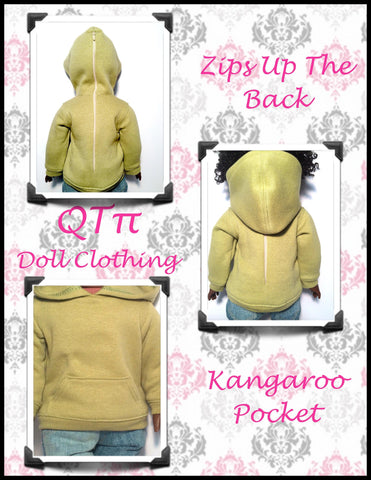 "All Zipped Up Hoodie 18"" Doll Clothes"