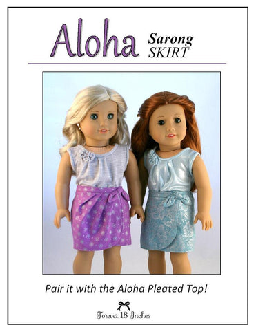 "Aloha Sarong Skirt 18"" Doll Clothes"