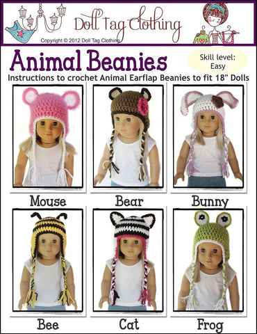 Doll Tag Clothing Crochet Animal Beanies Crochet Pattern Pixie Faire