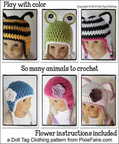 Animal Beanies Crochet Pattern