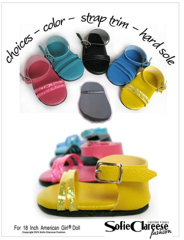 "Sofie's Ankle Strap Sandal 18"" Doll Shoes"