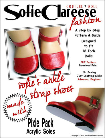 "Sofie's Ankle Strap Shoes 18"" Doll Shoes"