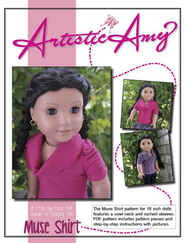 "Muse Shirt 18"" Doll Clothes Pattern"