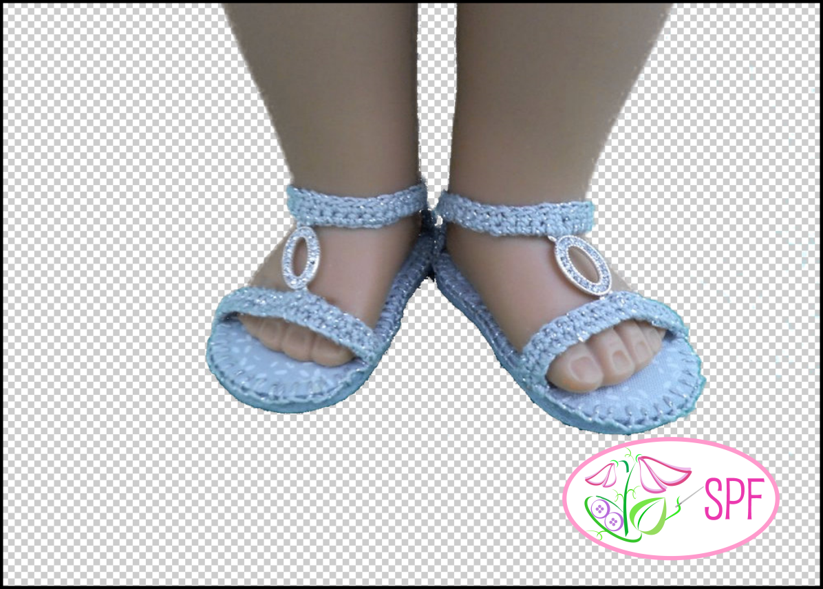 a83d96292fe4 Aurelia Crocheted Sandal Doll Clothes Pattern 18 inch American Girl ...