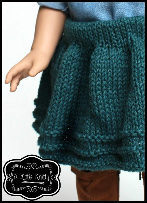 A Little Knitty Avery Skirt Doll Clothes Pattern 18 inch American ...