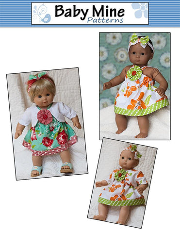 "Picnic Sundress and Show My Bow Jacket 15"" Doll Clothes Pattern"