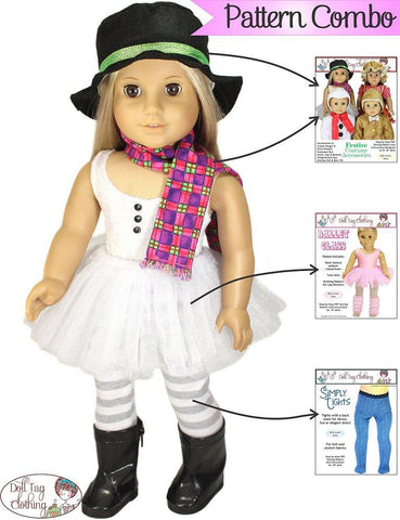 "Ballet Class 18"" Doll Clothes Pattern"