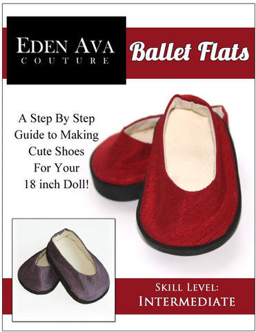 Ballet Flats 18 inch Doll Shoe Pattern Eden Ava Couture