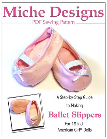 "Ballet Slippers 18"" Doll Shoes"