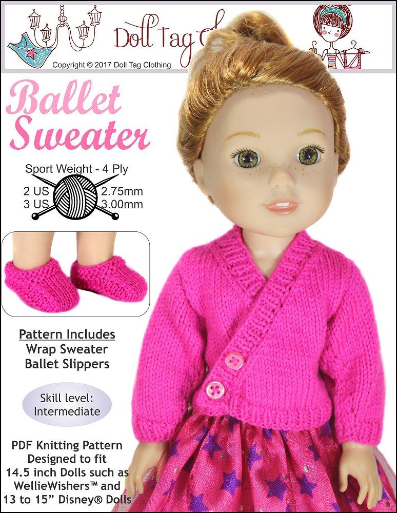 Doll Tag Clothing Ballet Sweater 13-15\