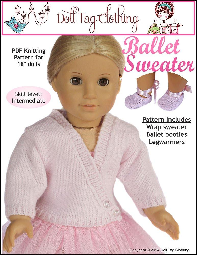 Ballet Sweater Knitting Pattern 18 Inch Pdf Download Pixie Faire