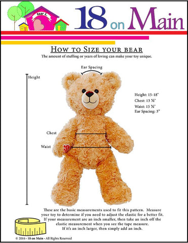 Bear E. Wokie Pattern for Build-A-Bear Dolls