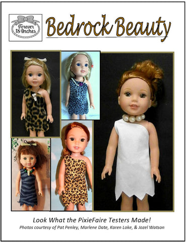 pdf doll clothes pattern Forever 18 inches bedrock beauty designed to fit 14.5 inch WellieWishers dolls
