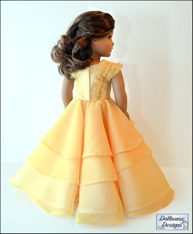 "Bella Rose Ball Gown & Party Dress 18"" Doll Clothes Pattern"