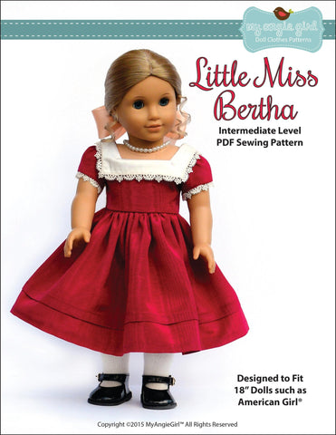 "My Angie Girl 18 Inch Historical Little Miss Bertha 18"" Doll Clothes Pixie Faire"