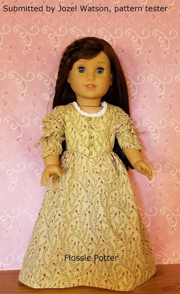 """Betsy Ross Shop Dress 18"""" Doll Clothes"""