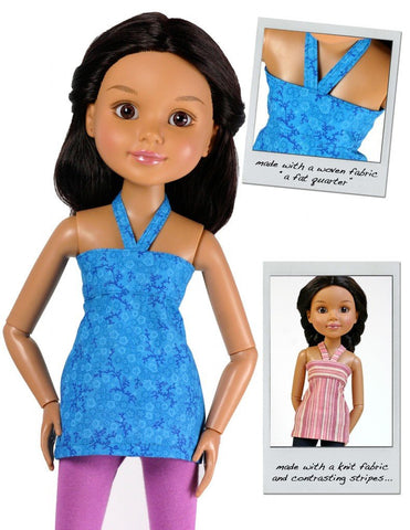 Liberty Jane BFC Ink Bandeau Top and Dress for BFC, Ink. Dolls Pixie Faire